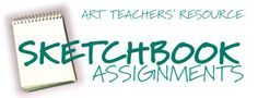 Examples of sketchbook assignments (or quick one-day assignments, especially good for a substitute teacher); includes student examples and grading suggestions.