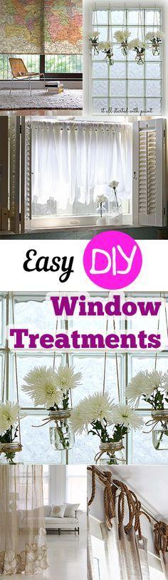 Easy DIY Window Treatments