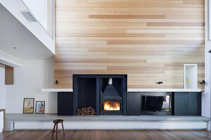 Beautiful timber feature wall - Rachcoff Vella Architects