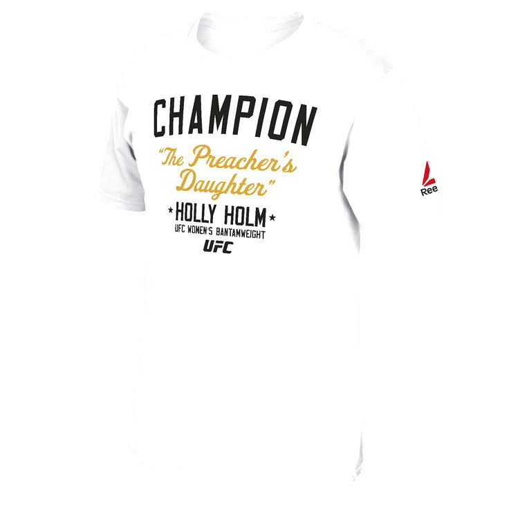 Holly Holm UFC 193 Reebok Champion T-Shirt - White - $23.99