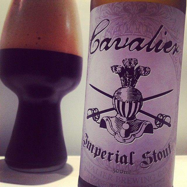 Cavalier Imperial Stout and the Spiegelau stout glass from @250beers. #craftbeer