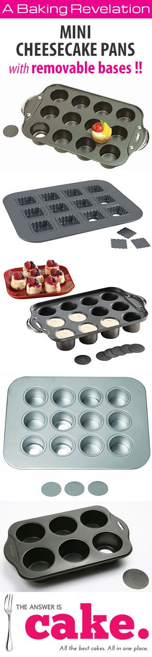 Mini cheesecake pans (with removable bases)                                                                                                                                                                                 More
