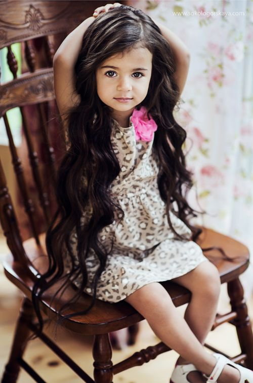 Look how long this sweetie's hair is!!! I wonder how old she is. She is sweet