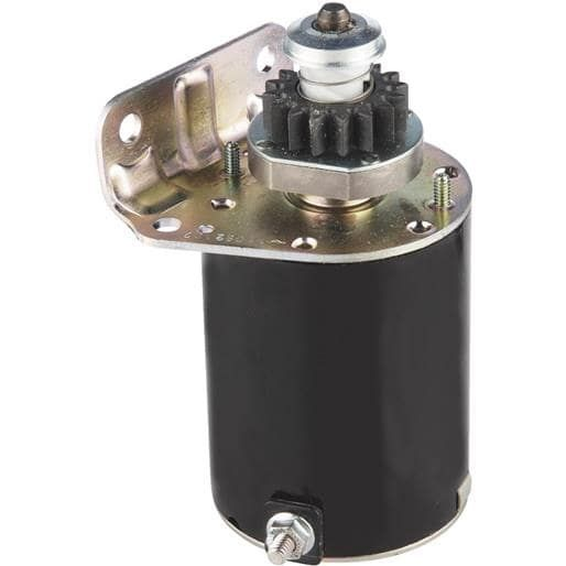 Power Distributors Electric Starter Motor 497595 Unit: Each, Silver aluminum