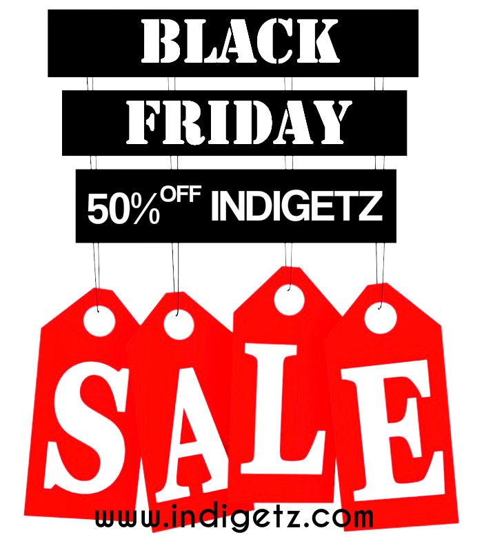 Who's excited for Black Friday? We are!Get 50% Off #wwwindigetzcom Now High Quality & Lowest Price for all global fashion lovers. #INDIGETZ #highfashionedjewelries #fashion #style #accessories #blackfriday #wwwindigetzcom