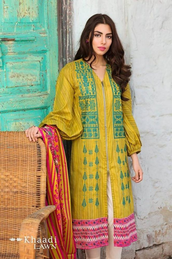 Khaadi Lawn 2017 2 Piece Collection Catalogue With Price