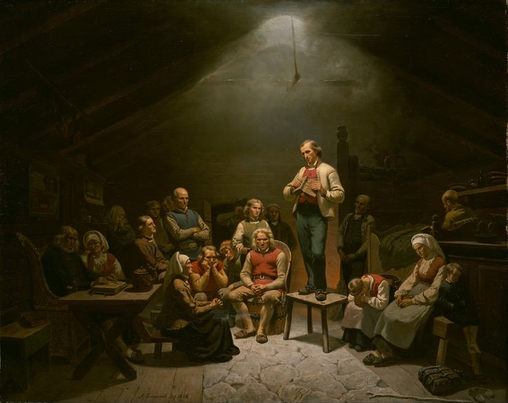 Adolph Tidemand - Low Church Devotion. 1848. jpg (3543×2810)