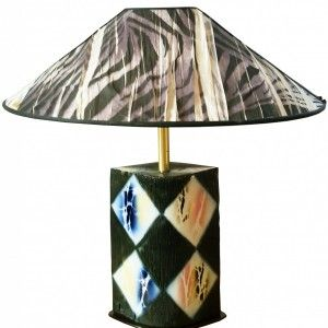 CERAMIC TABLE LAMP BY TASCA, ITALIAN DESIGN 1980