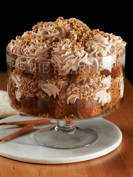 Pumpkin Toffee Crunch Trifle  Ingredients  2 Loaves of Pumpkin Bread (store bought or prepared Quick Bread mix)  1 Cup Toffee bits 1 ...