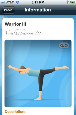 This app looks awesome. Stream it through the big screen and it's like having your own yoga instructor in your living room!