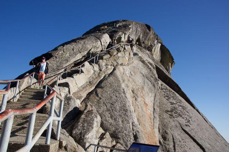Climbing Moro Rock, Sequoria National Park, California, USA