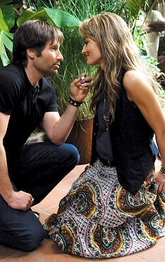 great vest and skirt. Hank Moody doesn't hurt.