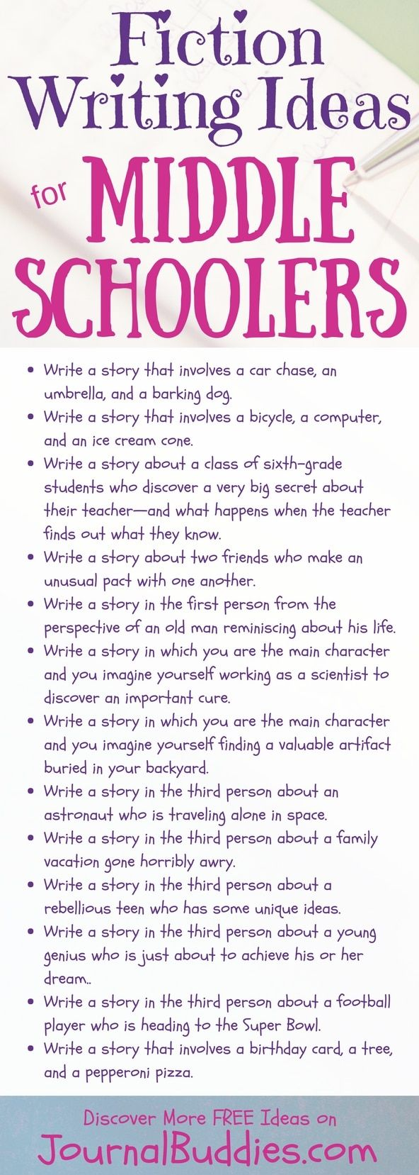 fiction writing prompts for kids The time is now offers weekly writing prompts in poetry, fiction, and creative nonfiction to help you stay committed to your writing practice throughout the year sign up to get the time is now, as well as a weekly book recommendation for guidance and inspiration, delivered to your inbox.