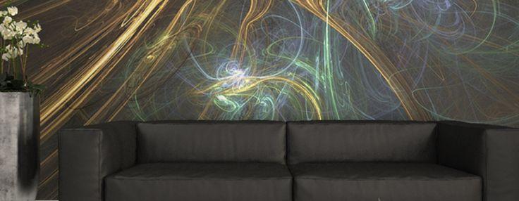 Custom Wallcovering from Levey. Order a sample of Kaleidoscope Digital Wallcovering.