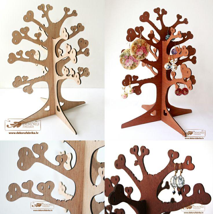 Laser cut jewelry tree