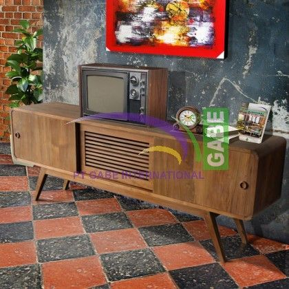 #tvconsole some time also people called #tvcabinet or #buffetTv #vintagestyle #retro design made from solid #teakwood #gabeinternational production find more our collection at www.gabeart.com search with type 'vintage' ---- #furnituretoday #trendproducts
