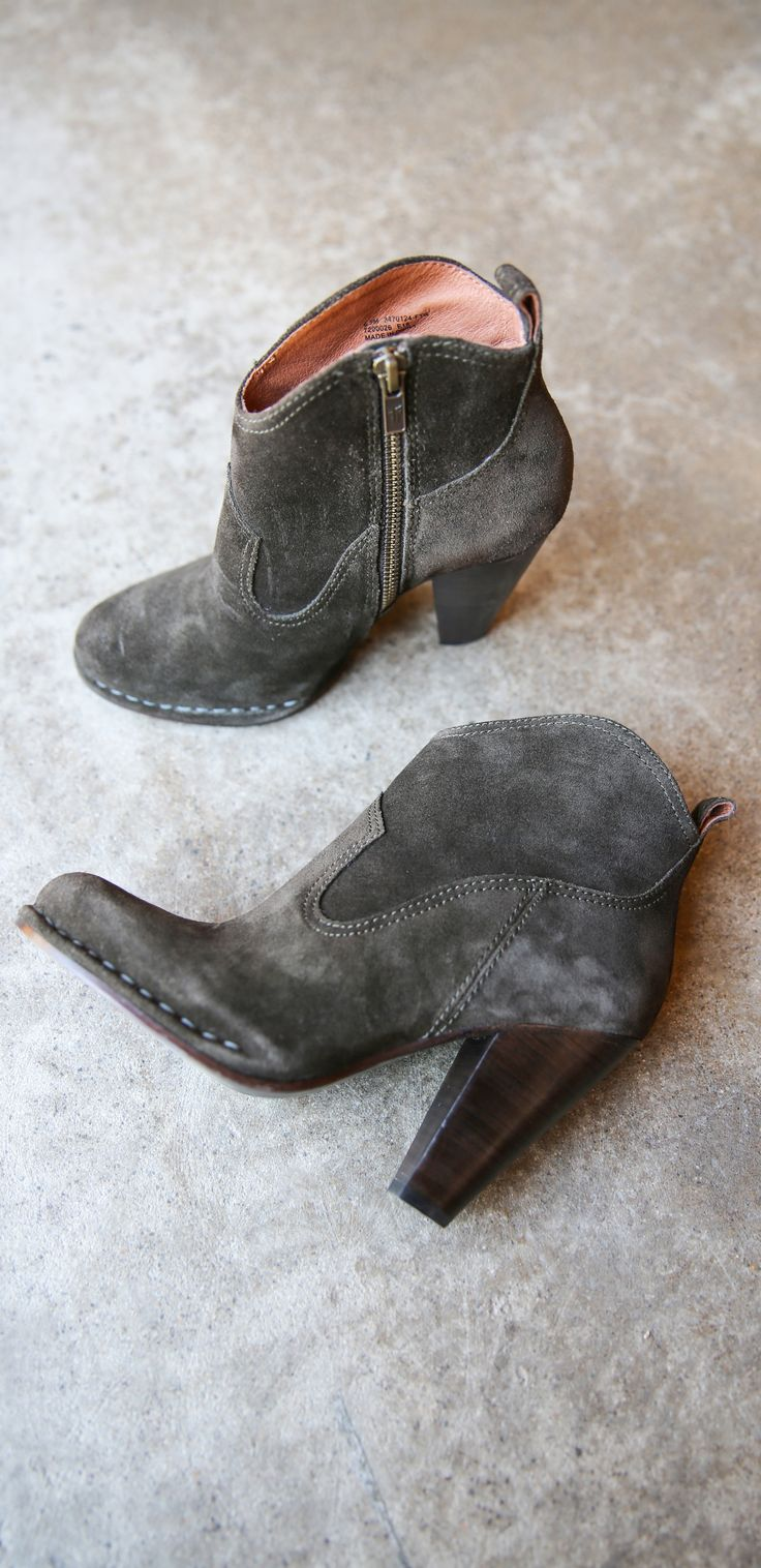 Western-inspired ankle boots from The Frye Company; the Madeline Short.