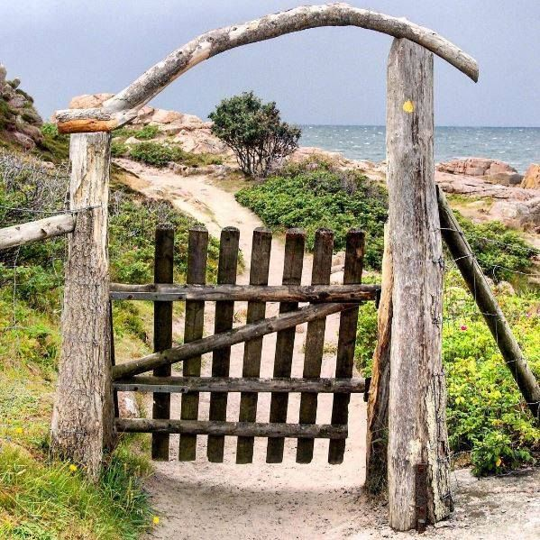 This gate is at the start of a scenic walking trail around the cliffs of The Hammer, Bornholm Island - also a great place to trail run! Source: Go VisitDenmark