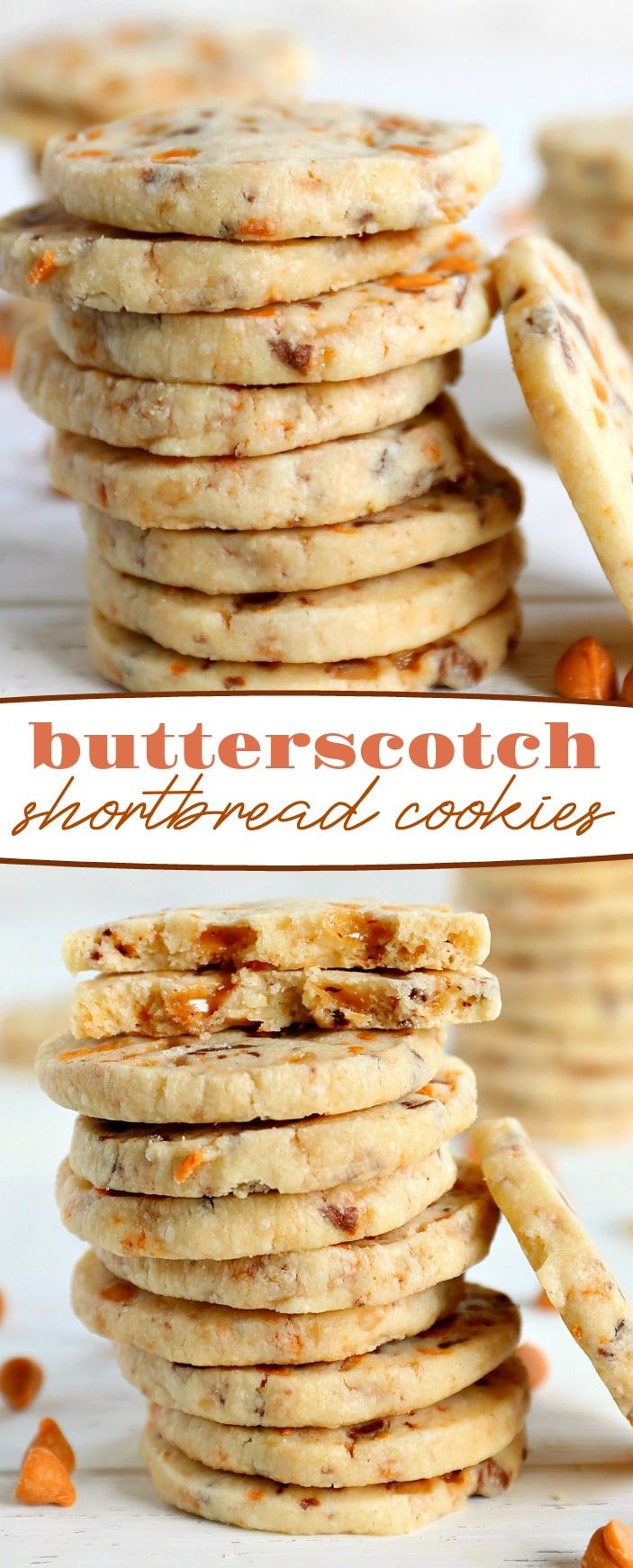 These melt in your mouth Butterscotch Shortbread Cookies are everything shortbre…