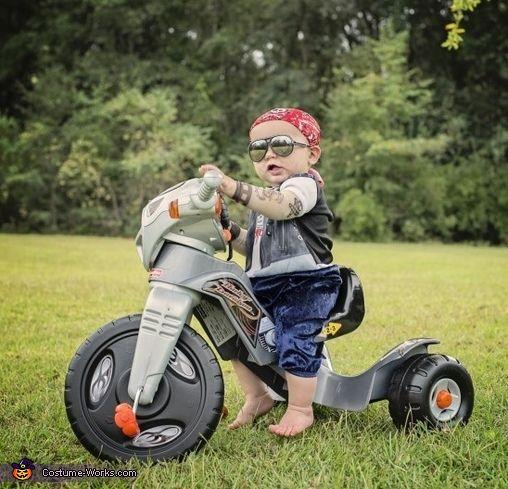 Baby Biker Halloween Costume Contest Works