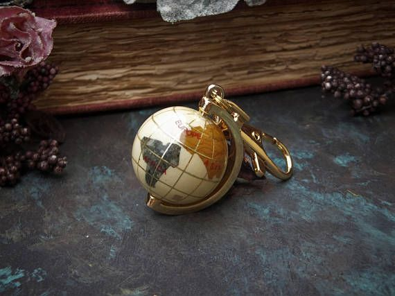 3D Globe Pendant Keychain Earth World Map Globe Charm Bag
