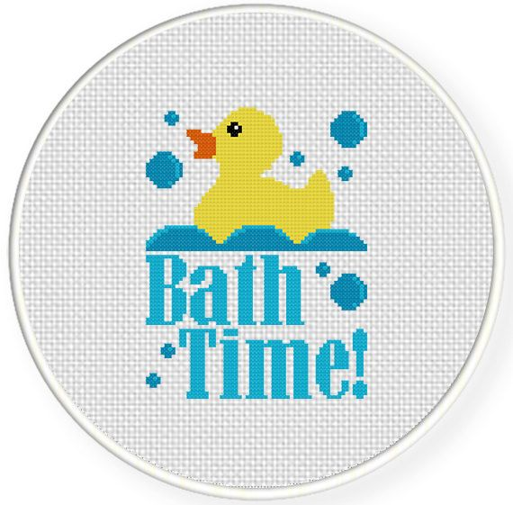 FREE for May 29th 2014 Only - Bath Time Cross Stitch Pattern