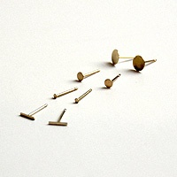 Delicate, flat studs - perfect for wee ears. Kathleen Whitaker