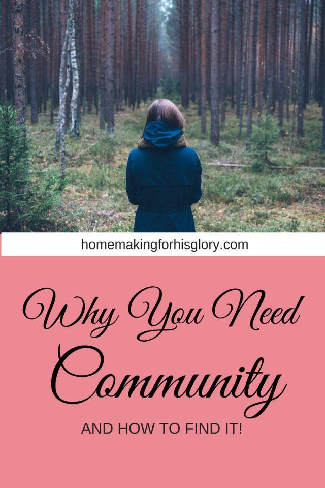 you need community