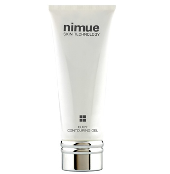 Body Contouring Gel. Body Contouring Gel's highly active ingredients including. Anti-adipose Complex acts on the systemic circulation, visibly improving skin texture. Caution: Do not use during Pregnancy, Breast feeding, Epilepsy and High Blood Pressure. 200ml. Nimue Skin Technology.