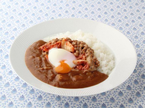 キムチ納豆カレー