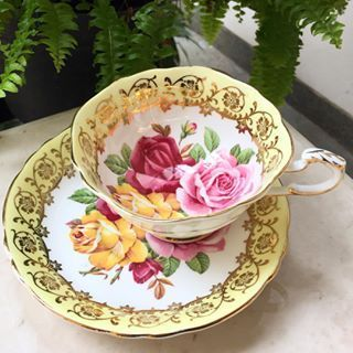 Vintage Yellow Teacup by Paragon England