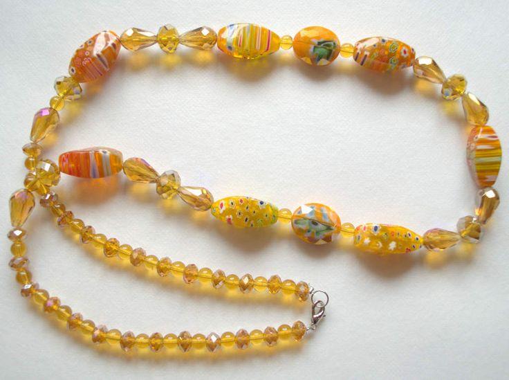 Vintage+Murano+Venetian+Bead+Necklace+&+crystals+from+Unikacreazioni+by+DaWanda.com