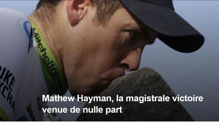 PARIS-ROUBAIX - A 10 jours de son 38e anniversaire, Mathew Hayman (Orica-GreenEdge) s'est imposé dans la reine des classiques pour sa 15e participation. L'Australien a devancé Tom Boonen (Etixx-Quick Step) d'un cheveu au sprint pour la victoire. Ian Stannard...