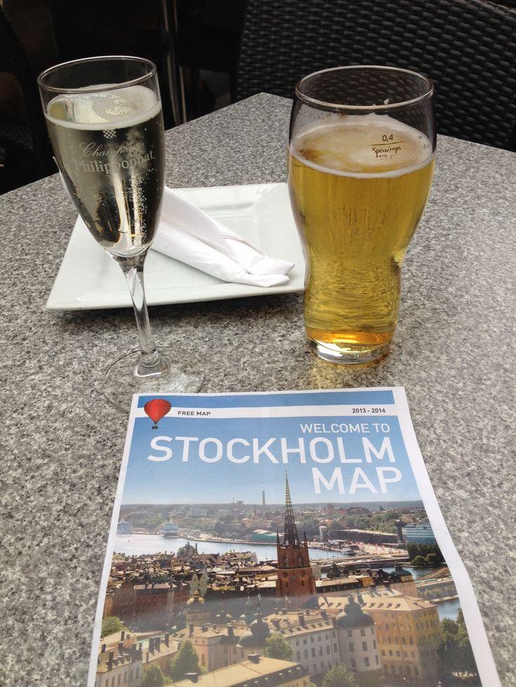 Dinner in Stockholm!  We did get food!