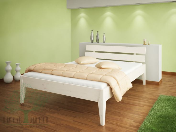 Białe łóżko sosnowe Torino to stylowe połączenie solidnej sosny z wytrzymałą konstrukcją. Produkowane w wielu rozmiarach, idealnie wpasowuje się w definicję mebla służącego do snu lub rekreacji w pozycji leżącej. #łóżko #tartakmeble #sklep #meble