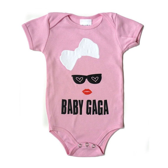 baby Gaga! I am obsessed with these trendy onesies