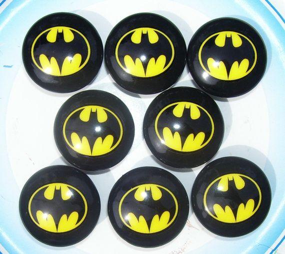 8 Black Batman Dresser Drawer Knobs By Patrinasplace On