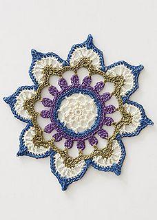 Interweave Crochet Fall 2015 has a beautiful thread #crochet mandala pattern Lori made in memory of Marinke
