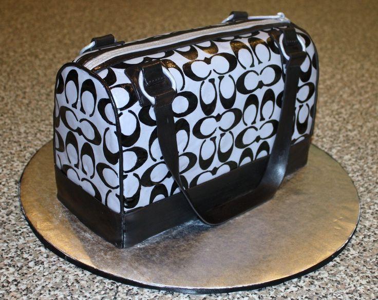 fashion purse handbag cakes | coach purse cake i was asked to make a coach purse cake and was given ...