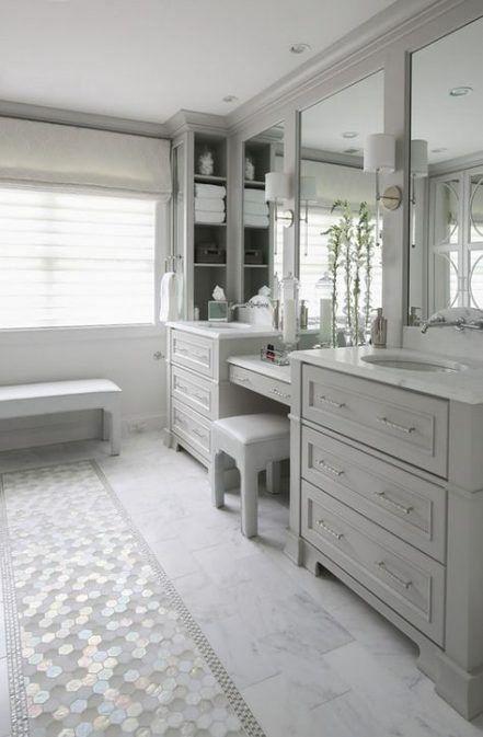 Trendy bathroom vanity with makeup area paint colors ideas ...