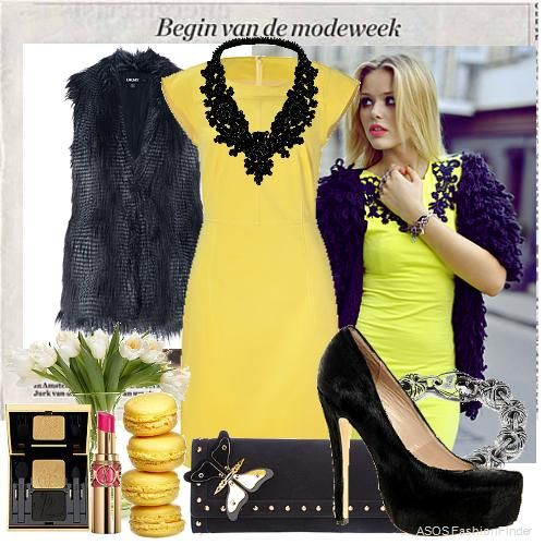 Hit me with lightning, yellow & black chic