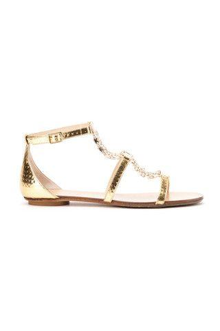 Jimmy Choo mirror leather sandals - LuxuryProductsOnline