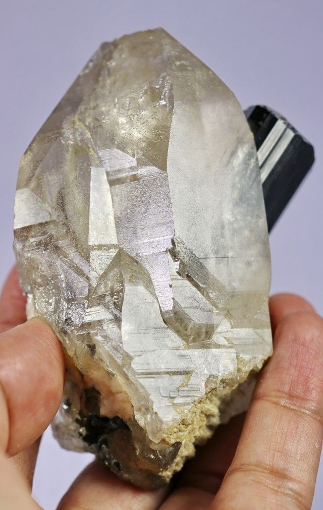 1460 Ct Black Tourmaline Combine Quartz Crystal