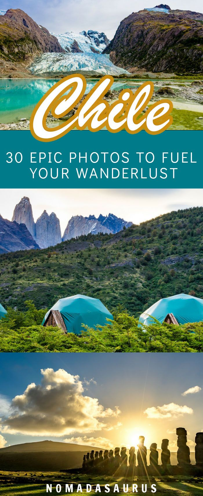 Chile is such a beautiful destination! From Atacama to Valparaiso to Patagonia, here are 30 epic photos to inspire you to travel the country. #chile #travelphotography