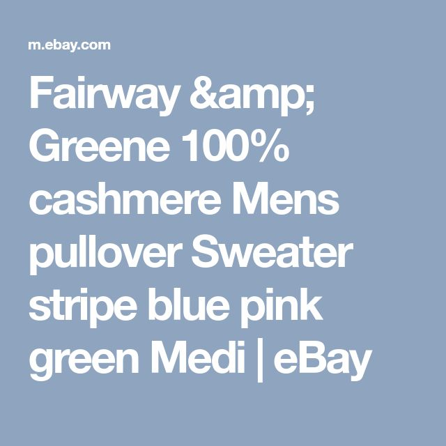 Fairway & Greene 100% cashmere Mens pullover Sweater stripe blue pink green Medi  | eBay