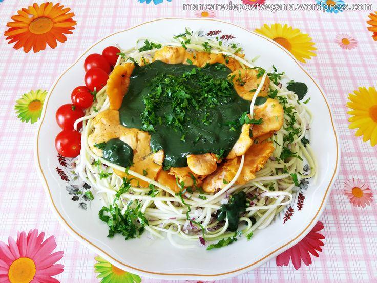 • Ingrediente și costuri totale(aproximativ 27 lei, pentru 2-4 porții): Dovlecei, 1300 grame (din care rezultă 350 grame sub formă de paste) – 3 lei Gălbiori (ciuperci), 250 grame – 10…