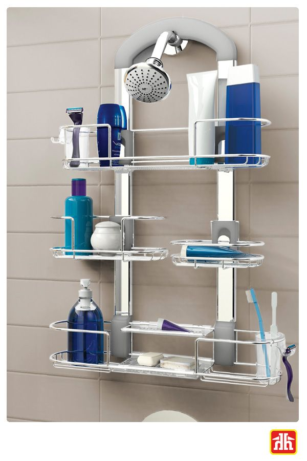 Don't have enough storage space in your shower? All you need is a shower caddy! It will fit all your shower essentials.