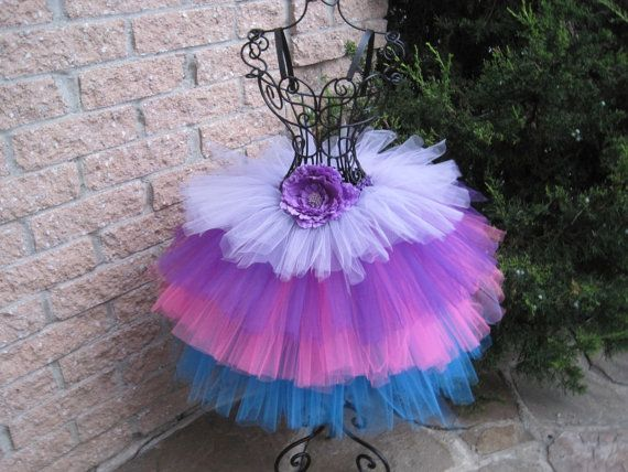 FOUR COLOURS TUTU Skirt.  Lilac Purple Pink by ElsaSieron on Etsy