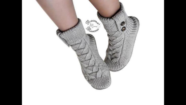Носки сапожки спицами для взрослых
