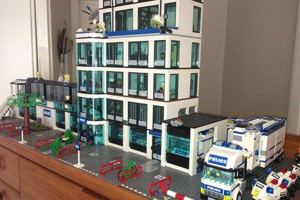 PHOTOS: Seven storey Lego Police station for sale on Trade Me - Photos - Marcus Lush - Weekday Hosts - RadioLIVE